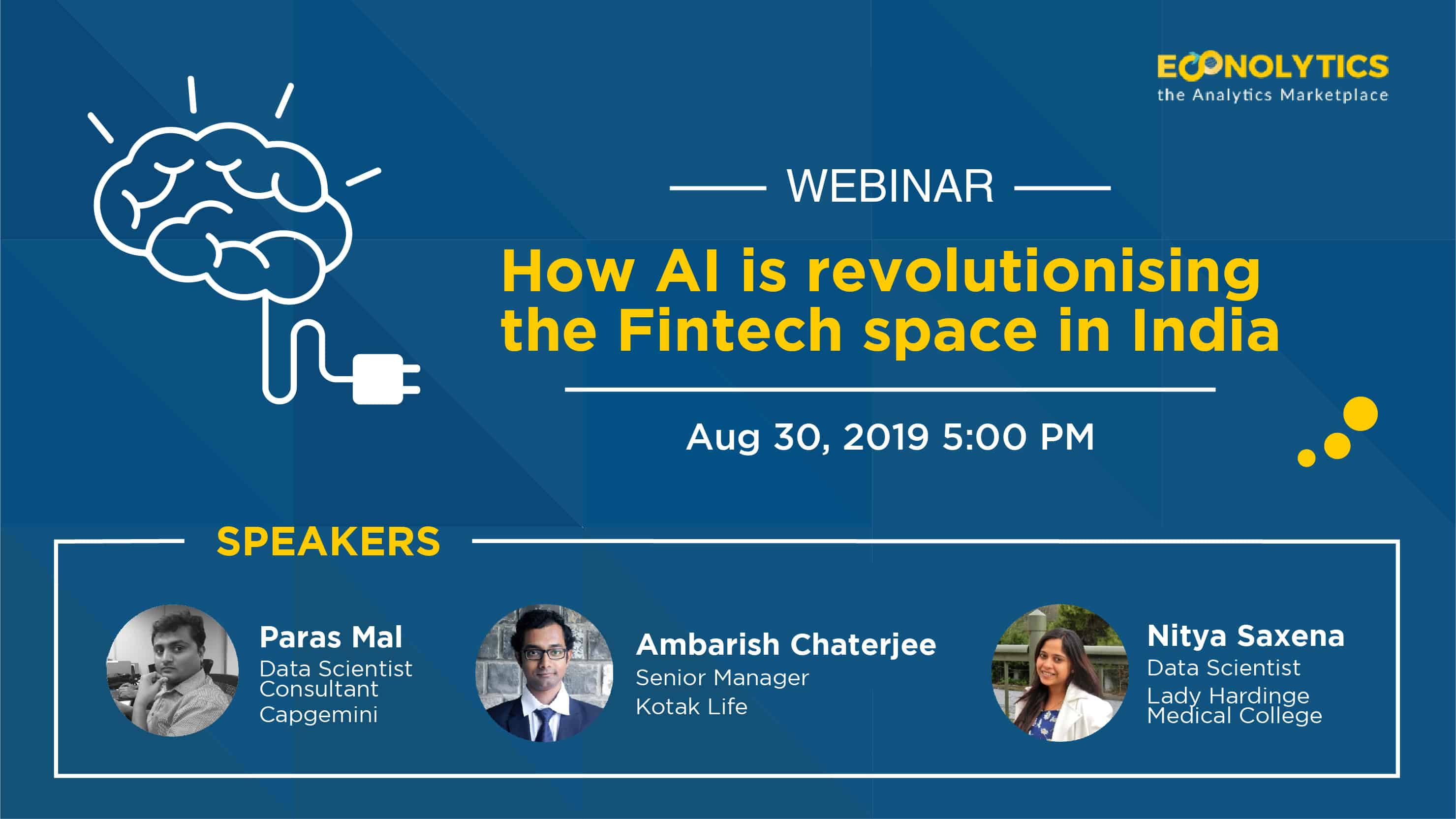 """Webinar on """"How AI is Revolutionizing the Fin-tech Space in India"""""""